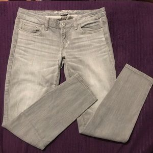American Eagle gray super skinny denim jeans